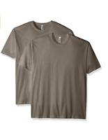 Marky G Apparel N6210 2pk Men's CVC Crew-Neck Short Sleeve T-Shirt Stone Gray S