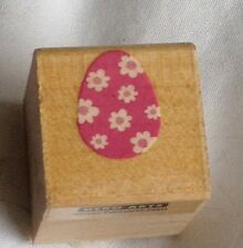 Huevo De Pascua-Hero Arts madera sello de goma montado. Aprox 2.5 cm X 2.5 Cm