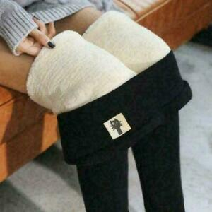 SUPER THICK CASHMERE LEGGINGS Winter Tight High Waist Pants Warm Pants US Stock