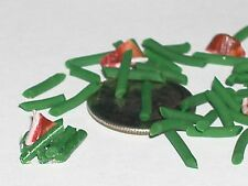 15pc Tiny Miniature dollhouse barbie Green Beans & Bacon loose food nail art
