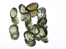 5.40cts oval 10PCS BUFF TOP moldavite faceted cutted gem WHOLESALE LOT BRUS1370
