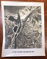 WWII Air Force Photo 67th Group Aerial Recon Boulogne France Port Pre Bomb 1944
