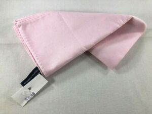 """NEW TOMMY HILFIGER Cotton Pocket Square ~ $34 NWT 13"""" Pink Twill Woven 3303"""