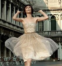 $795.00 Alice + Olivia Tallulah Princess Sequin Wedding Cocktail Dress XS US 2