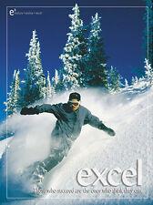 Snowboarding EXCEL Motivational Inspirational POSTER Print