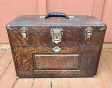 Vintage Oak H. GERSTNER & SONS  Machinist Tool Chest 7 Drawers