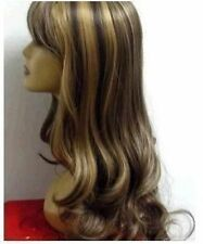 WJIA9700  fancy long Fashion brown mixed cosplay wigs for modern women hair wig