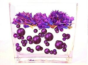 """Floating"" Purple Pearls- No Hole Jumbo/Assorted Sizes Vase & Table Decorations"