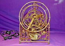 Gordon Brandt Brass 3 Man Sculpture Clock