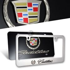 3D CADILLAC Stainless Steel License Plate Frame -2PCS Front & Back AUTHENTIC