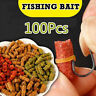 Pack of 100pcs River Sea Fishing Baits Smell Grass Carp Fresh Crucian Fish Lures