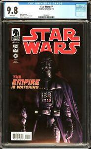 "Star Wars # 7 CGC 9.8 NM/MT Amazing Cover! ""The Empire is Watching!"" Dark Horse"