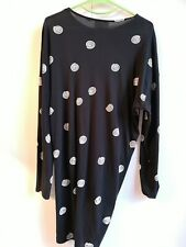 Cheap Monday black dress with white circle pattern size M