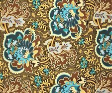 "17"" RARE AMY BUTLER BELLE GOTHIC ROSE TURQUOISE BOLT END COTTON FABRIC"
