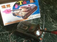 Vintage remote control tin toy blechspielzeug tank ME774 battery operated