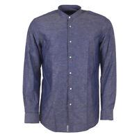 "HUGO BOSS Shirt Blue Slim Fit Size 44cm / 17.5"" Collar RRP £119 MA 125"