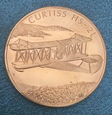 Medallic History Of Canadian Aviation Curtiss HS2L Aircraft Airplane Flight Coin