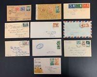 Postal History Lot of 10 Australia, New Zealand, and British Pacific Covers