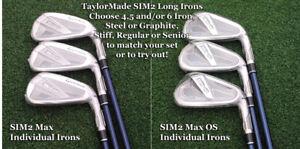 TaylorMade 2021 SIM2 Max & Max OS Matching Individual Single 4/5/6 Irons Choose
