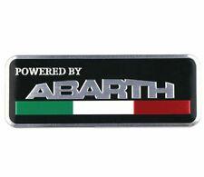 Fiat Abarth Powered By Abarth Aluminium 3D Badge Decal Emblem 500 595 Punto 124