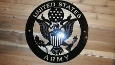 "UNITED STATES ARMY Metal Sign 16"" Hand Made in Waco Texas Wall art Decor CNC"