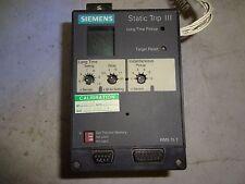 SIEMENS RMS-TI-T STATIC TRIP III 18-483-905-504 TRIP UNIT USED