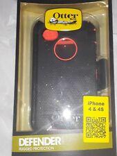 Otter Box Defender  orange Iphone 4 4S Cell Phone Case Brand New NIB