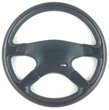 Genuine Atiwe 370mm black leather steering wheel. BMW E30 E23 E36 E28 E24 etc 7D
