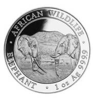Silbermünze Somalia African Wildlife Elefant/Elephant 100 Schilling 1 oz 2020