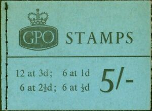 GB 1965 Jan 5s Wilding Booklet SGH72p Phosphor Fine & Complete