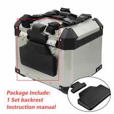 Motorcycle Aluminum Alloy Tail Top Box Backrest Comfortable Cushion Pad Mat Set