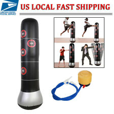 New Inflatable Boxing Punching Bag Stand Mma Kick Martial Training With Air Pump