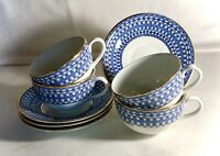 4 Rorstrand 10033 Cups And Saucers