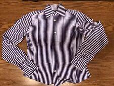 Ralph Lauren Polo Women's Classic Long Sleeve Purple White Dress Shirt Size 2