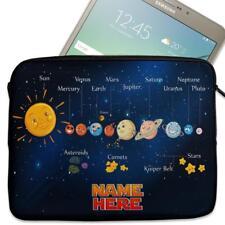 """Funda de tablet personalizada Sistema Solar Planeta Manga Cubierta 7"""" 8"""" 9"""" 10"""" 11"""" ST135"""