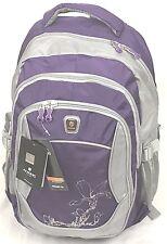 Aoking Nylon Red/grey/purple/pink school travel backpack Bag Rucksack - floral