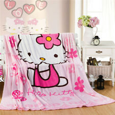 Cute Pink Hello Kitty Blanket Soft Plush Bedroom Blanket Throw Cover 150*200cm