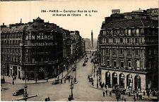 CPA PARIS 2e-Carrefour Rue de la Paix et Avenue de l'Opéra (322128)