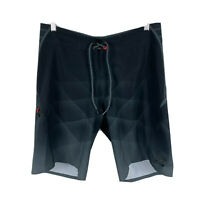 Billabong Mens Board Shorts Size 32 Black Geometric Drawstring Closure