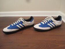 Used Worn Size 14 Adidas Samba Shoes White Blue Black