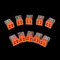 10Pcs PCT-104 wire connector for junction box 4 pin conductor terminal block 3C