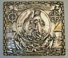 San Francesco Da Paola Plate / Plaque - Brass - Rare (2184)