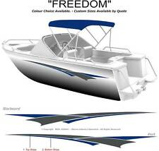 "BOAT GRAPHICS DECAL STICKER KIT ""FREEDOM -2400"" MARINE CAST VINYL"