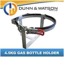 Lockable 4.5kg Gas Bottle Holder Galvanised - Camper Trailer, Caravan, 4x4