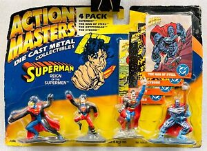 Never Released Super Rare 1994 Kenner Action Masters Die Cast Supermen Superman