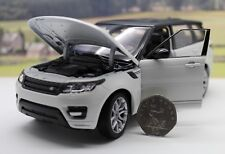 RANGE ROVER SPORT White Black Boys Toy Dad Model Diecast 1/24 Boxed Present Gift