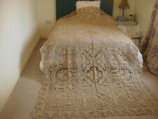 More details for handmade antique beige point de venise superb needle lace banqueting cloth.