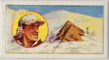 1953 Conquest Of Everest Edmund Hillary and Sherpa Tensing Vintage Trade Ad Card