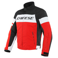 DAINESE SAETTA D-DRY RED / WHITE / BLACK MOTORCYCLE JACKET - EU 50/52/54/56