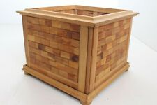 Flower Pot Planter Wood Handmade Individual Piece Mosaic (15)